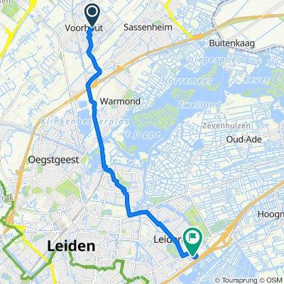 Dillestraat 4, Voorhout naar Simon Smitweg 1C, Leiderdorp