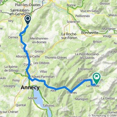 De 1722 Route du Salève, Beaumont à 83 Chemin du Cortibot, La Clusaz