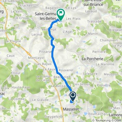 De 4 Chemin du Vieux Châtenet, Masseret à Montréal, Saint-Germain-les-Belles