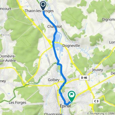 De 10 Rue Paul Banzet, Thaon-les-Vosges à 50 Rue Saint-Michel, Épinal