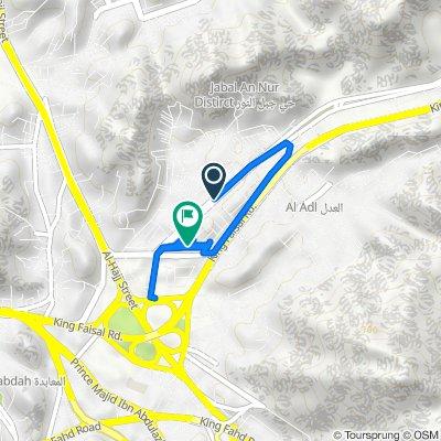 Route from حسين سرحان, مكّة المكرمة