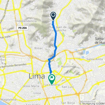 De Amelos 2376, Cercado de Lima a Avenida México 1298, Cercado de Lima