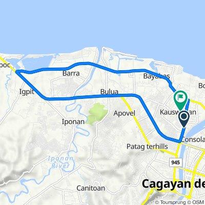 Cacao Village Lane 977, Cagayan de Oro to Harpe Street 470, Cagayan de Oro