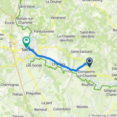 De Chemin des Biches, Dompierre-sur-Charente à 7 Rue Georges Clemenceau, Saintes