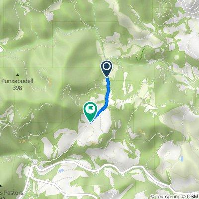 Ruta a Camino de Sant Vicanc de Casteller, Monistrol de Montserrat