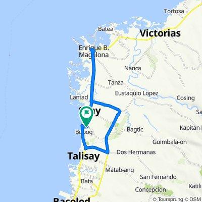 Buenavista Subd, Silay City to EB Magalona to Talisay City to Buenavista Subd, Silay City