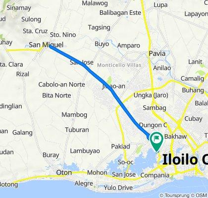 Molo-Mandurriao Road, Iloilo City to Molo-Mandurriao Road, Iloilo City