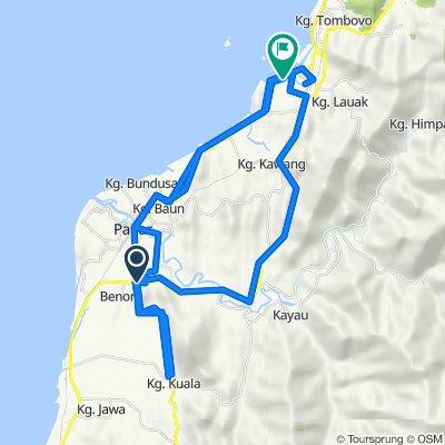 Lorong Benoni 15, Papar to Jalan Pengalat Lok Kawi, Penampang