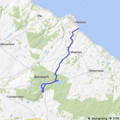 Radtour von Sannes Camping nach Almindingen