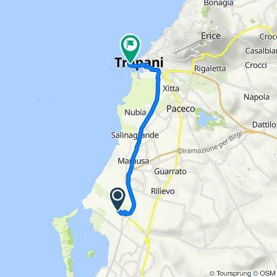 trapani kürzester Weg