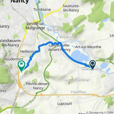 De Impasse Julie 3, Laneuveville-devant-Nancy à Fléville-devant-Nancy