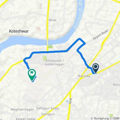 Dehgam Road 14, Ahmedabad to Ahmedabad Domestic Airport