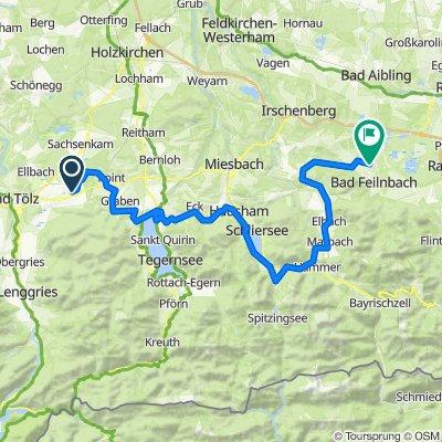 Etappe 5B: Tegernsee Schliersee – Bodensee-Königssee Radweg