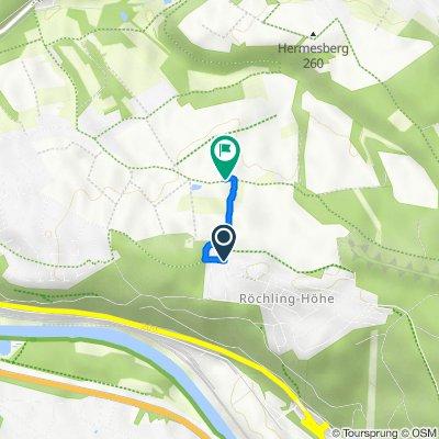 Trierer Straße 112A, Völklingen nach Petershof, Bous