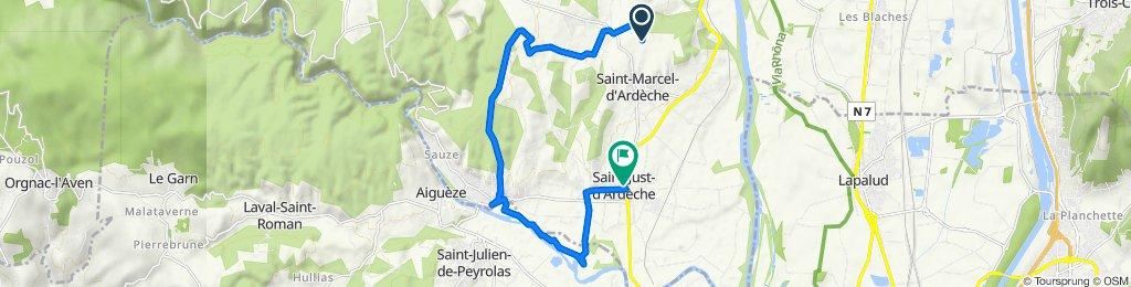 Itinéraire vers 75 Route de Bourg Saint-Andéol, Saint-Just-d'Ardèche