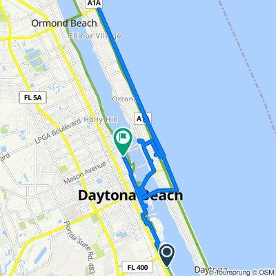 151 Tradewinds Cir, South Daytona to 815 N Beach St, Daytona Beach