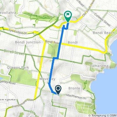2 Arden Street, Waverley to 243 Old South Head Road, Bondi