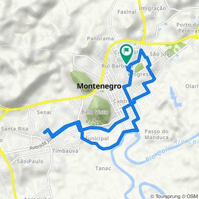 De Rua Florindo Machado, 254, Montenegro a Rua Guarapari, 30, Montenegro