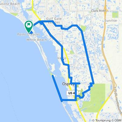 6744 Sarasea Cir, Sarasota to 1001 Point of Rocks Rd, Sarasota