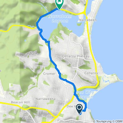 Route from 19 Wheeler Parade, Dee Why