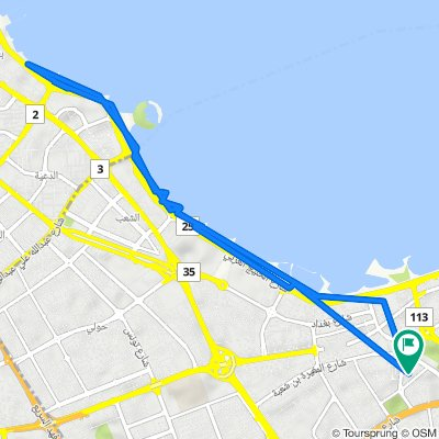 Yousef Al Bader St. 7 Lane, Salmiya to Yousef Al Bader Street 3 Lane, Salmiya