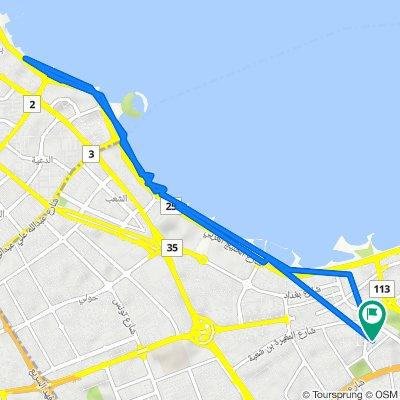 Yousef Al Bader St. 7 Lane, Salmiya to Yousef Al Bader Street 11, Salmiya