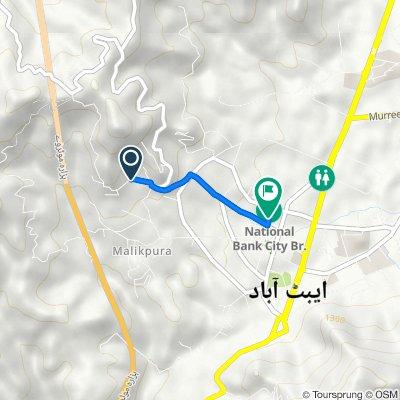 شملہ پہاڑی روڈ, Abbottabad to Main Bazaar Road, Abbottabad