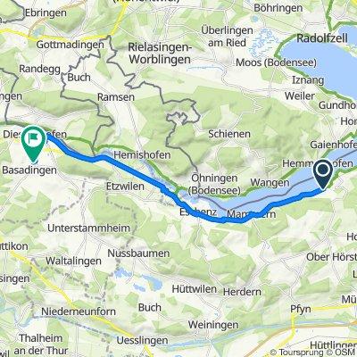 Glariseggerweg 11, Steckborn nach Kirchgasse 14, Basadingen