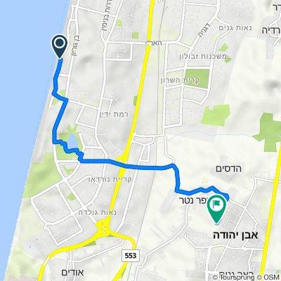 Sderot Oved Ben Ami 71, Netanya to Khatsav Street 16, Even Yehuda