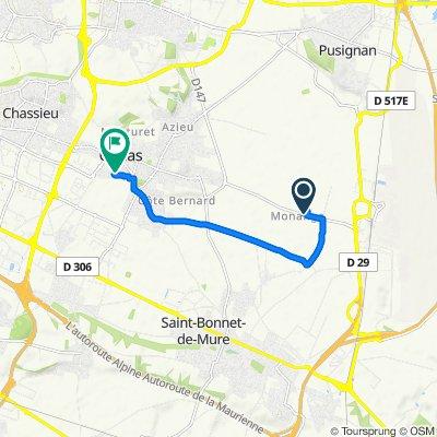 Itinéraire à partir de Rue de la Fraternite 3571, Genas