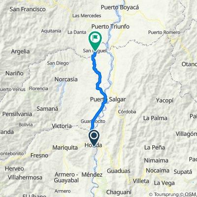 Ruta desde Vía Honda - Guaduas, Guaduas