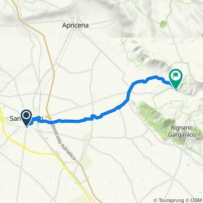 Da Via Felice Canelli Don 121, San Severo a Eremi di Stignano 1628
