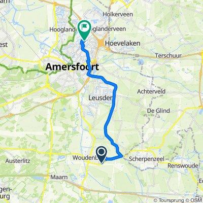 Van Steenbergenlaan 5, Woudenberg naar Erasmusstraat 52, Amersfoort
