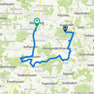 Route nach Uferstraße 31, Mainburg