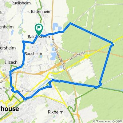 6 Rue du Stock, Baldersheim to 6 Rue du Stock, Baldersheim