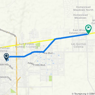 3222 Arrambide St, El Paso to 14840 Montana Ave, El Paso