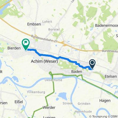 Bruchwischberg 12, Achim nach Bremer Straße 54, Achim