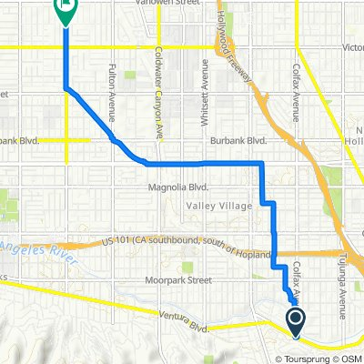11700 Ventura Blvd, Los Angeles to 6551 Woodman Ave, Los Angeles