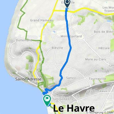 De Chemin Départemental 147, Octeville-sur-Mer à 5 Promenade André Duroméa, Le Havre