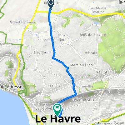De Chemin Départemental 147, Octeville-sur-Mer à 1517 Place de l'Hôtel de Ville, Le Havre
