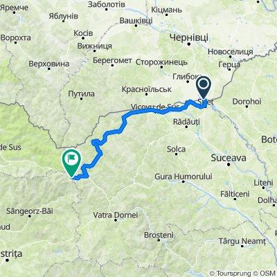 Румыния 2 дня  139км  набор 1533м