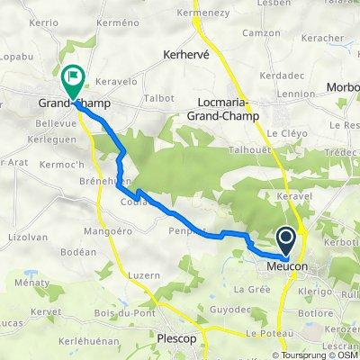 De 24 Route de Pontivy, Meucon à 16 Place de l'Église, Grand-Champ