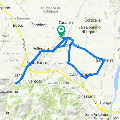 Da Via Fossoli 6, Arceto a Via Roberto Ruffilli 4, Arceto