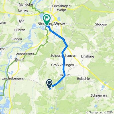 Brokeloher Dorfstraße 22, Landesbergen nach Leinstraße 11, Nienburg/Weser