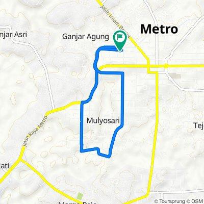 Jalan Cut Nyak Dien No.94, Kecamatan Metro Pusat to Jalan Cut Nyak Dien 15b, Kecamatan Metro Pusat