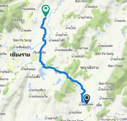 Route from Tambon Ngio