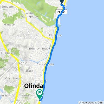 Rua Antônio Miranda Souza, 800, Paulista to Avenida Getúlio Vargas, 651, Olinda