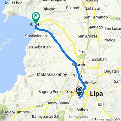 M. Lina, Lipa to Leviste Highway, Balete