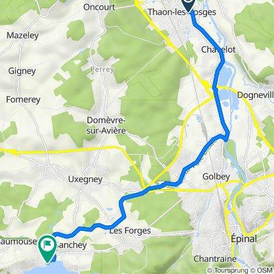 De 16 Rue Chanzy, Thaon-les-Vosges à 233 Chemin des Plages, Chaumousey