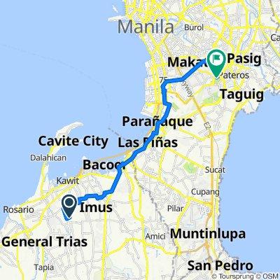 Fennel, Imus to Manila American Cemetery & Memorial, Taguig